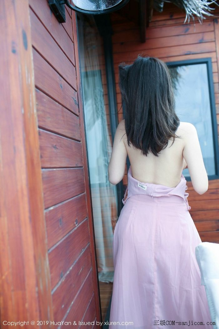 [HuaYan花の颜]Vol.062_嫩模绯月樱-Cherry粉色吊带连身裙露丁字裤翘臀诱惑写真[31/51]