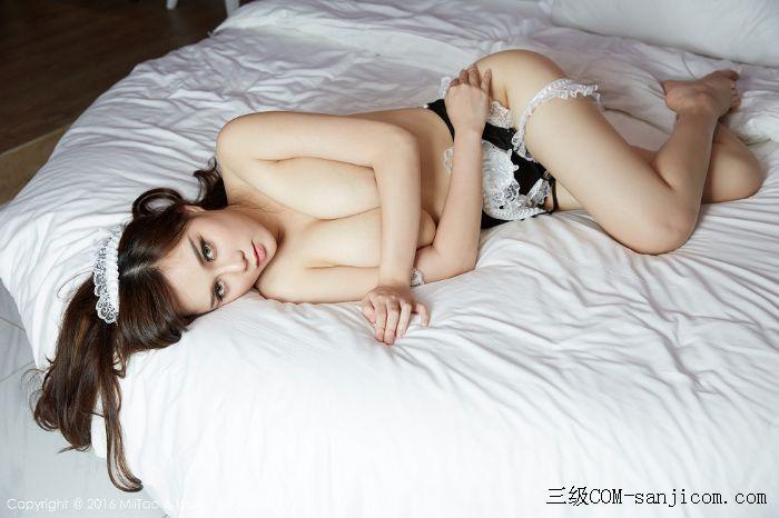 [MiiTao蜜桃社]Vol.014_嫩模米琪MIKI黑色女仆装F罩杯丰乳肥臀性感写真[15/60]