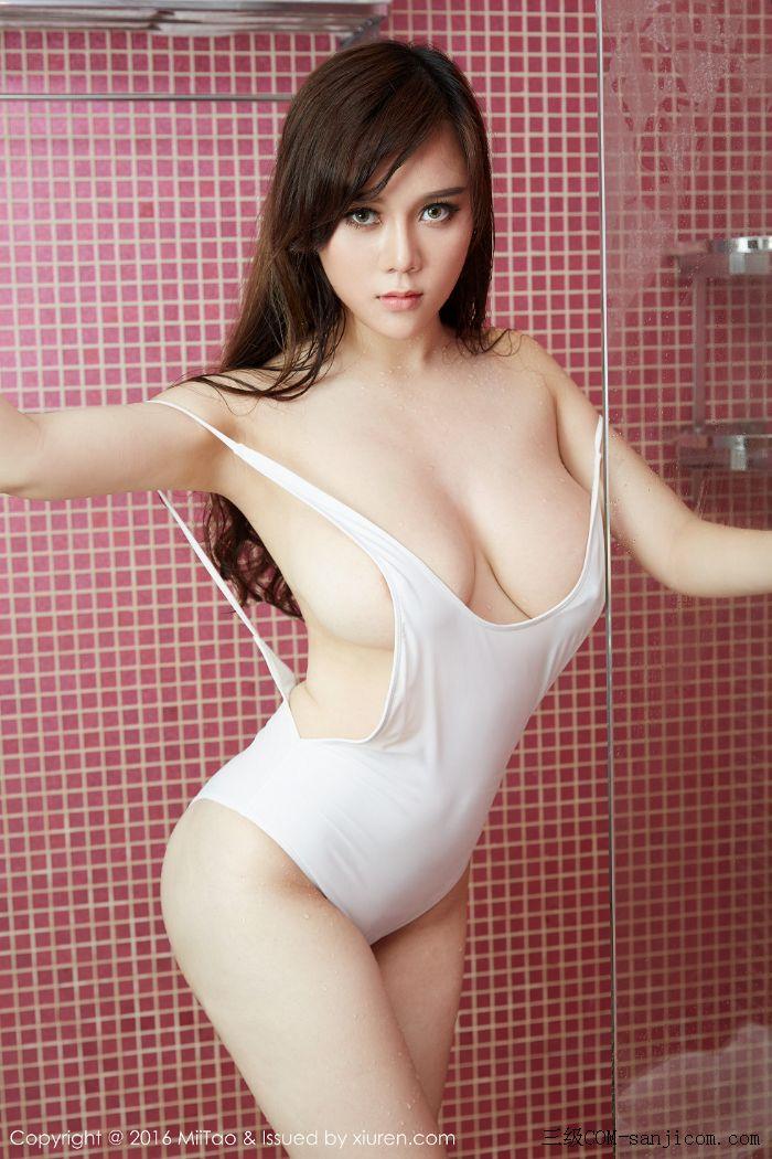 [MiiTao蜜桃社]Vol.014_嫩模米琪MIKI黑色女仆装F罩杯丰乳肥臀性感写真[43/60]