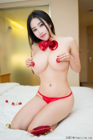 [MiStar魅妍社]Vol.055_巨乳嫩模闵妮Mily大尺度圣诞主题全裸遮胸诱惑人体写真[60P]