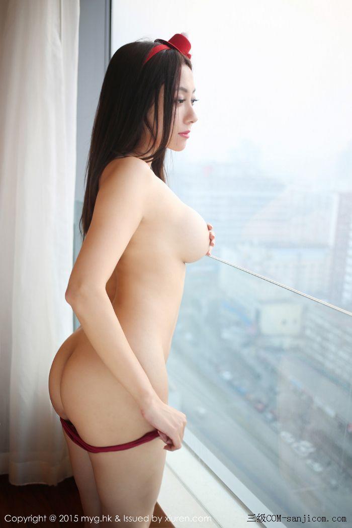 [MyGirl美媛馆]Vol.185_巨乳嫩模松果儿Victoria半裸上身遮胸诱人豪乳迷人翘臀诱惑写真[6/48]