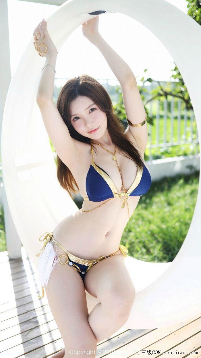 [MyGirl美媛馆]Vol.379_巨乳妹子糯美子Mini泳池边性感比基尼秀完美身材诱惑写真[5/100]