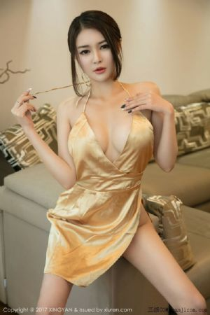 [XINGYAN星颜社]VOL.008_女神廿十居家私房金缕情趣内衣+黄金色吊带裙魅惑写真[42P]