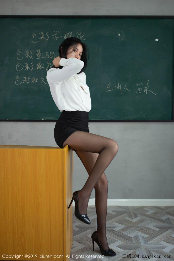 [XiuRen秀人网]No.1690_嫩模就是阿朱啊全裸遮胸魅惑教师制服白衬衣配无内黑丝裤袜诱惑写真[108/108]