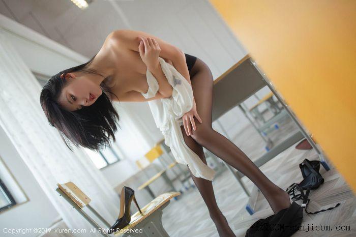 [XiuRen秀人网]No.1690_嫩模就是阿朱啊全裸遮胸魅惑教师制服白衬衣配无内黑丝裤袜诱惑写真[93/108]
