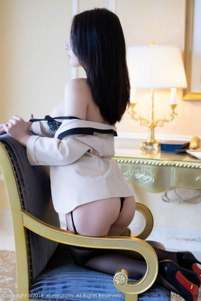 [XiuRen秀人网]No.1696_女神周于希Sandy黑色束胸情趣内衣+黑色金缕衣全裸翘臀撩人诱惑写真[24/60]