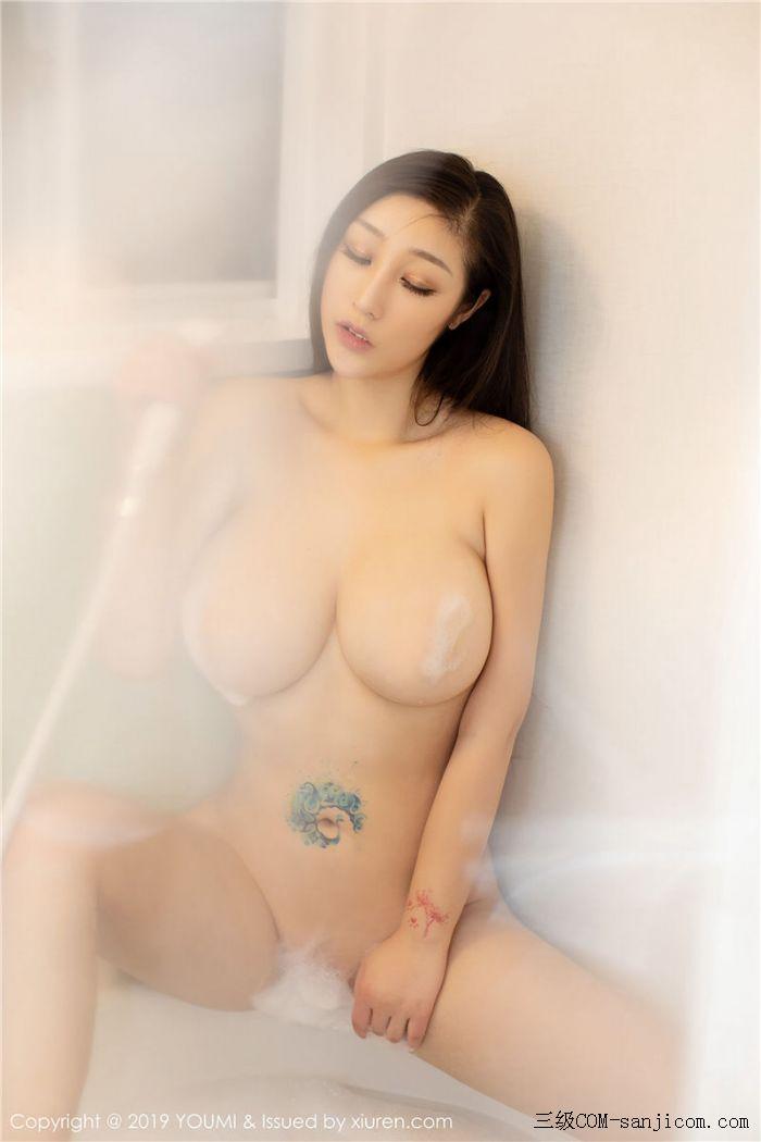 [YouMi尤蜜荟]Vol.271_女神妲己_Toxic白色薄纱浴室全裸遮胸秀出丰乳肥臀写真[39/41]